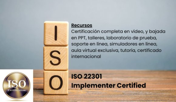 ISO 22301 Implementer Certified