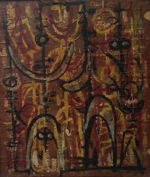 Gilberto Hernández Ortega - Oleo sobre madera - 20 x 16