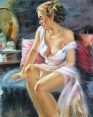Victor Artiles - Mujer Sentada - 30 x 24