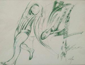 Angel Abreu -  Dibujo sobre Cartulina