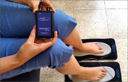 tratamiento rebuilder con plantillas para pies