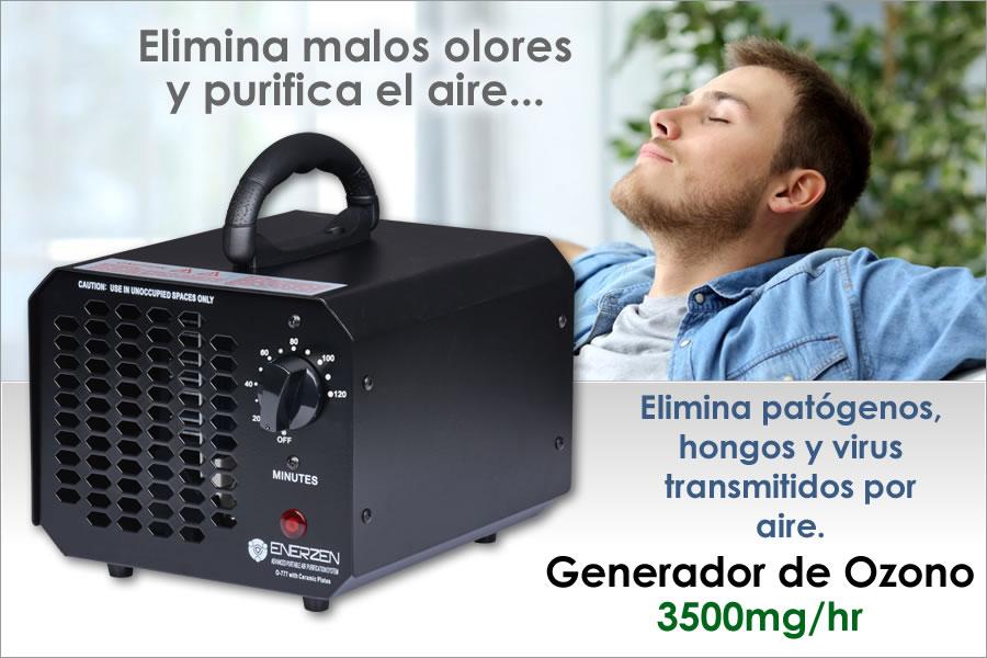 el generador de ozono elimina malos olores y purifica el aire