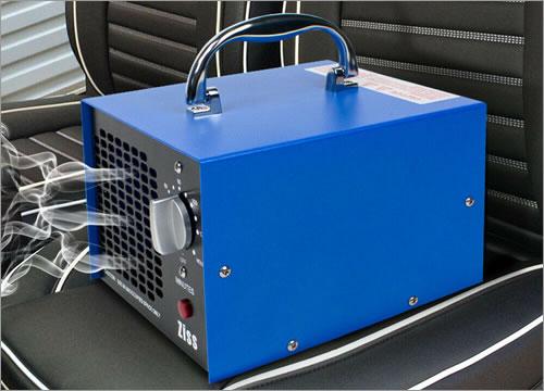 uso del generador de ozono