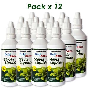 Stevia Líquida DulSano 72ml Pack x 12
