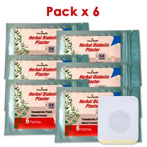 Parche Herbal Antidiabético Pack x 6