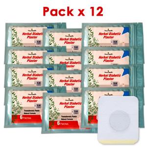Parche Herbal Antidiabético Pack x 12