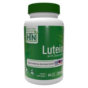 Luteína con Zeaxantina 20mg 60 Cápsulas