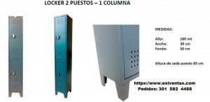 lOCKER 2 PUESTOS 1 COLUMNA