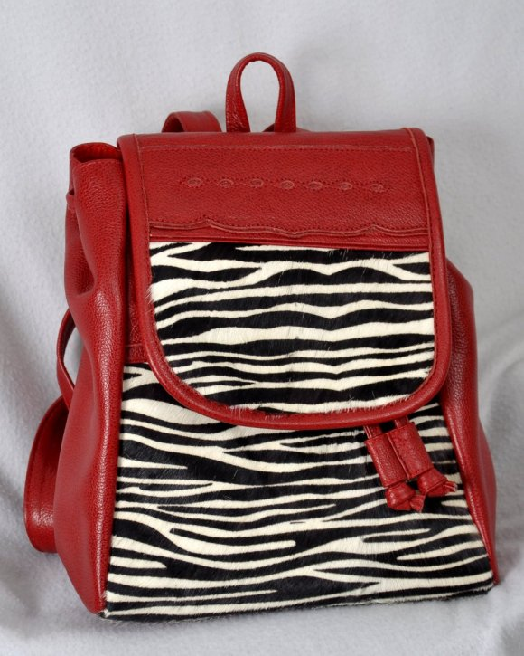 Morral Pequeño Rojo y Zebra