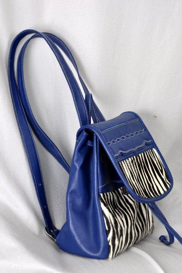Morral Pequeño Azul y Zebra