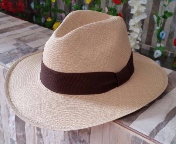 Sombrero Indiana Extrafino Café (Se  puede doblar)