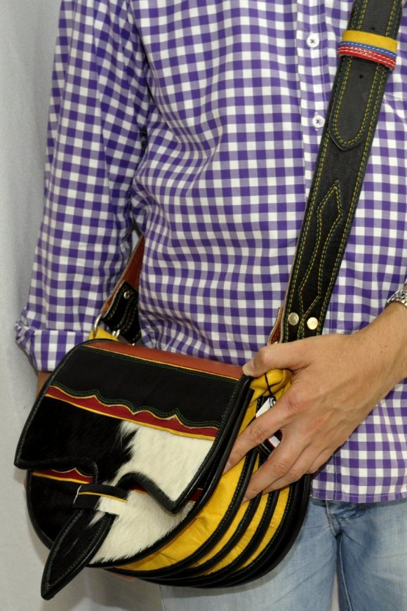 Carriel Tradicional # 12 Premium Blanco Negro