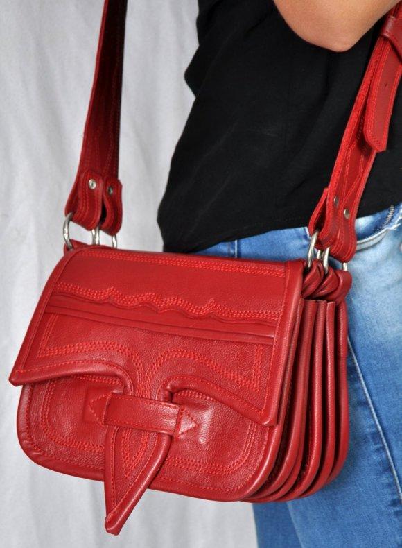 Carriel Dama Rojo  # 8 12 Bolsillos