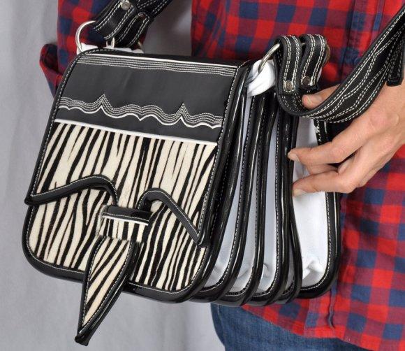 Carriel Cuadrado # 14 Color Tipo Zebra