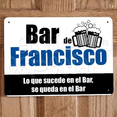 Placa de Bar Personalizada