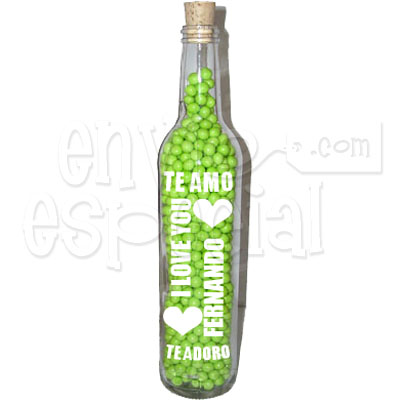 Botella de Dulces Personalizada