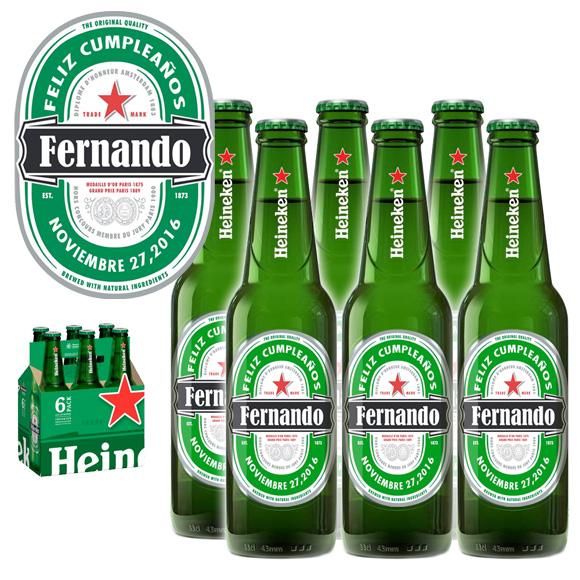 Cerveza Heineken Personalizada