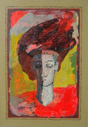 Juan Medina-Mujer meditando