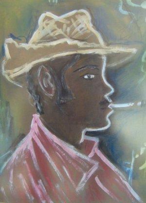 Yoryi Morel-Rostro fumando