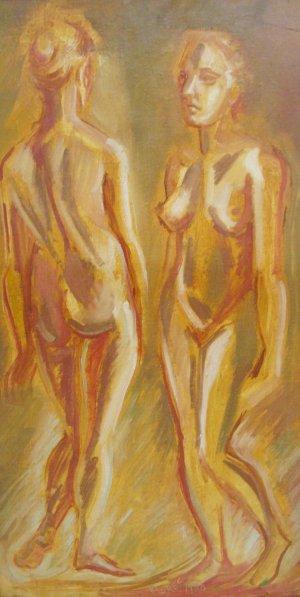 Roberto Flores-Mujer desnuda mirandose al espejo