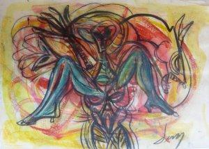 Jesus Desangles-Mujer sentada