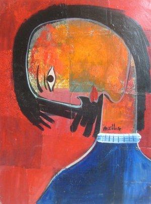 Alberto Ulloa-Mujer pensando