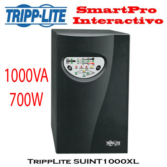 TRIPPLITE SUINT1000XL, UPS en línea doble conversión (Online), 1000VA/700W 175-280V 5-14min 4S-C13 (torre), 2 años de Garantía