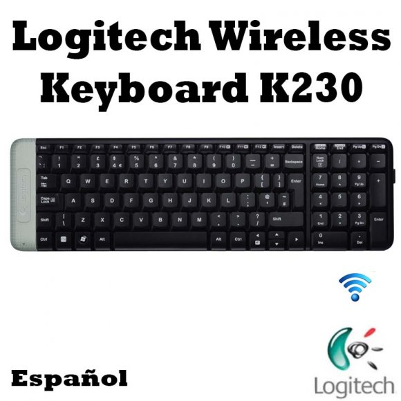 Logitech Wireless Keyboard K230 920004424, El teclado compacto que añade diversión a las funciones básicas con todas las teclas estándar; fiabilidad, tecnología inalámbrica 2,4 GHz de largo alcance con el minúsculo receptor Logitech Unifying