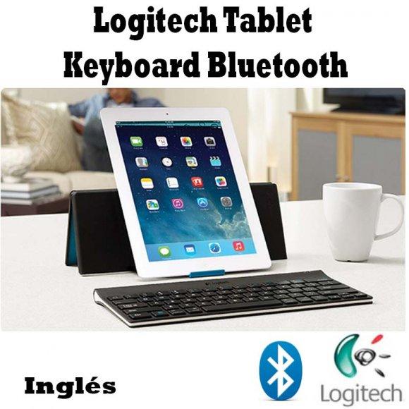 Logitech Tablet Keyboard Bluetooth 920003241, Teclado en inglés delgado para Tablets, Diseñado para impresionar, escriba con estilo, Añada un teclado inalámbrico vía Bluetooth® que está siempre dispuesto a escribir con precisión, Incluye Estuche