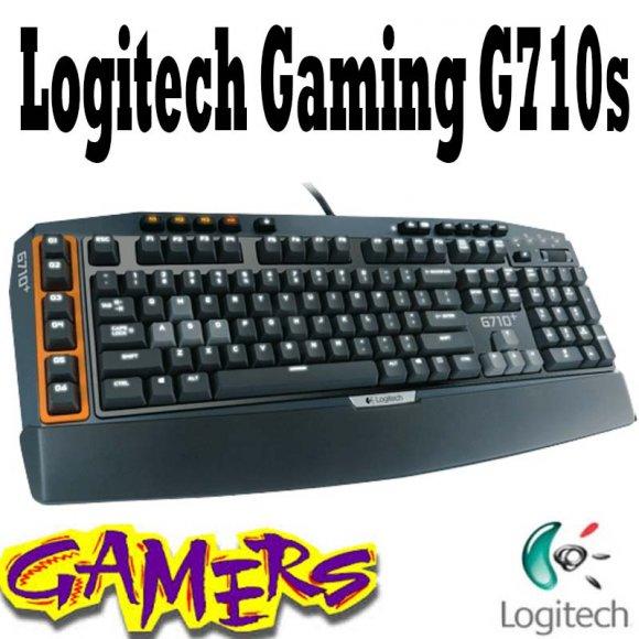 Logitech G710s 920003887 Gaming Keyboard, FeaturesTACTILE, de alta velocidad llaves mecánicas, LLAVES silenciosas, AJUSTABLE CONTRALUZ DE DOBLE ZONA, Acceso inmediato MEDIA, 6 teclas G programables, 2 USB, 70 MB disco duro