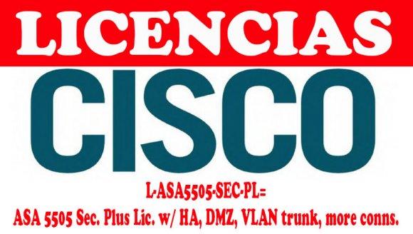 Cisco L-ASA5505-SEC-PL=, Firewall ASA 5505 Sec. Plus Lic. w/ HA, DMZ, VLAN trunk, License