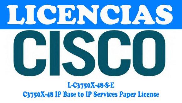 Cisco L-C3750X-48-S-E, Switch C3750X-48 IP Base to IP Services Paper License