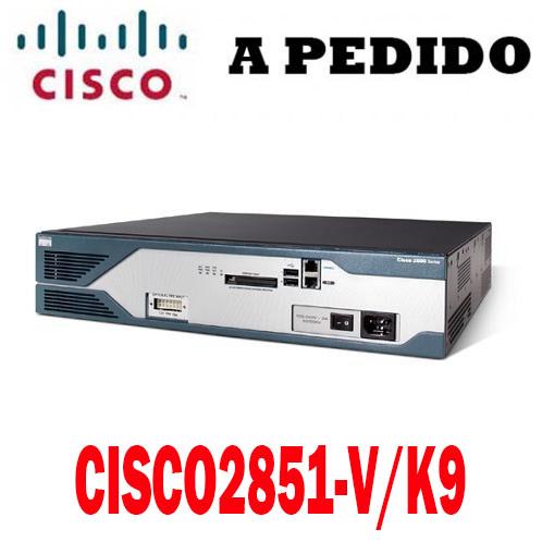 Cisco Router CISCO2851-V/K9 Cisco 2800 Router Voice Bundle, 2851 Voice Bundle, PVDM2-48, SP Serv, 128F/512D