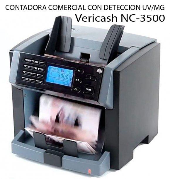 Vericash NC-3500, CONTADORA COMERCIAL CON DETECCION DE BILLETES UV/MG, Equipo para la Banca