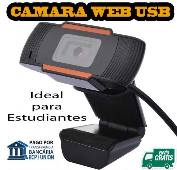 Cámara web 640p, USB con Microfono Interno y Sujetador para PC Desktop o Laptop, No Ncesita Drivers de Instalación, es plug and Play , conectar y funcionar.