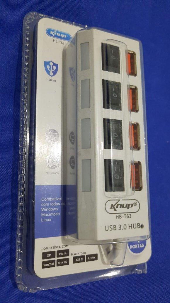 KNUP HB-T63, Hub USB  de 4 puertos USB  3.0, conector USB