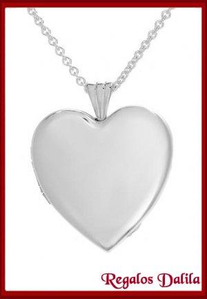Relicario de Plata Doble Corazón