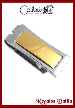 Sujeta Dinero de Metal y Oro