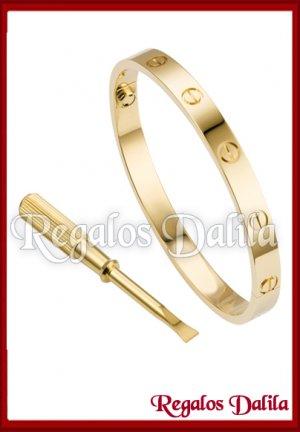 Pulsera A. Quirúrgico LOVE GOLD