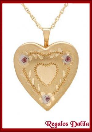 Relicario Corazón Enchapado Oro