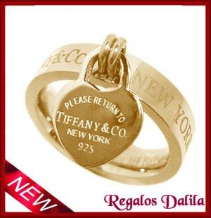 Anillo Tiffan 2 Corazones GOLD