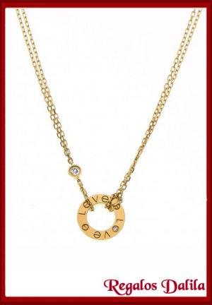 Set A. Quirúrgico LOVE GOLD CZ.