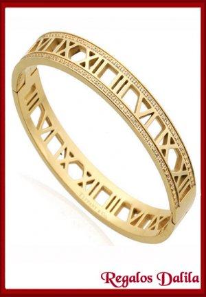 Pulsera Tiffan Nº ROM GOLD C/CRIST