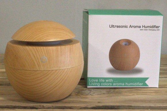 Humidificador de aroma ultrasónico de madera de pino