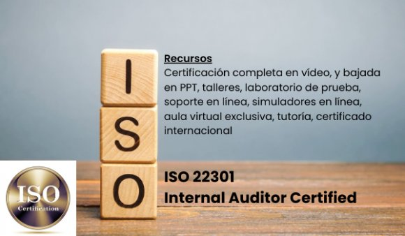 ISO 22301 Internal Auditor Certified