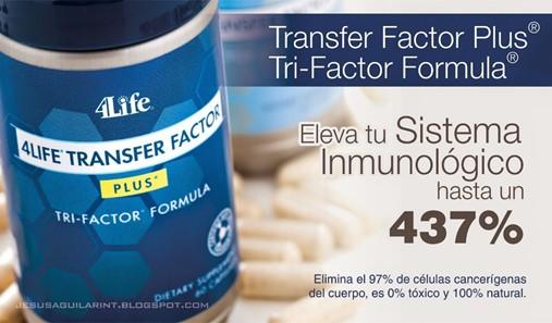 TRANSFER FACTOR PLUS: Sistema Inmunológico ALTO 437%